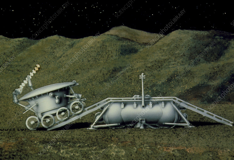 Artist's impression of Lunokhod 1