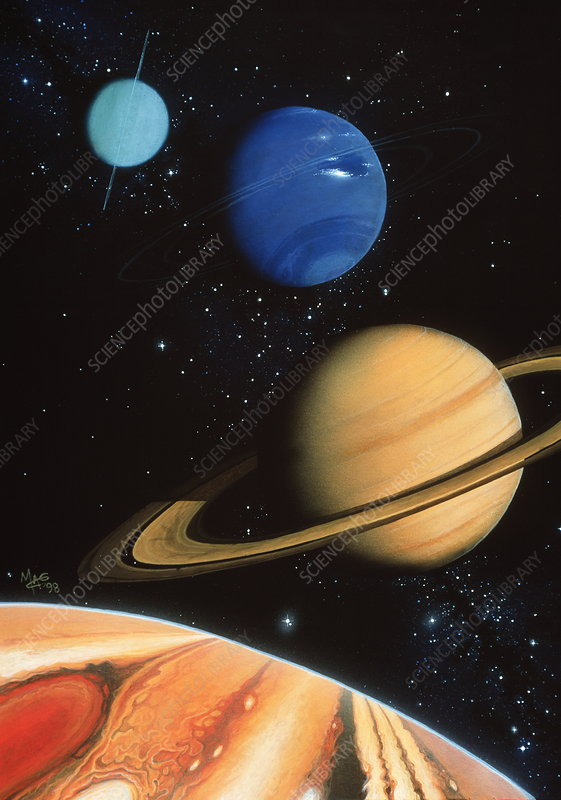 Gas giant planets in the solar system