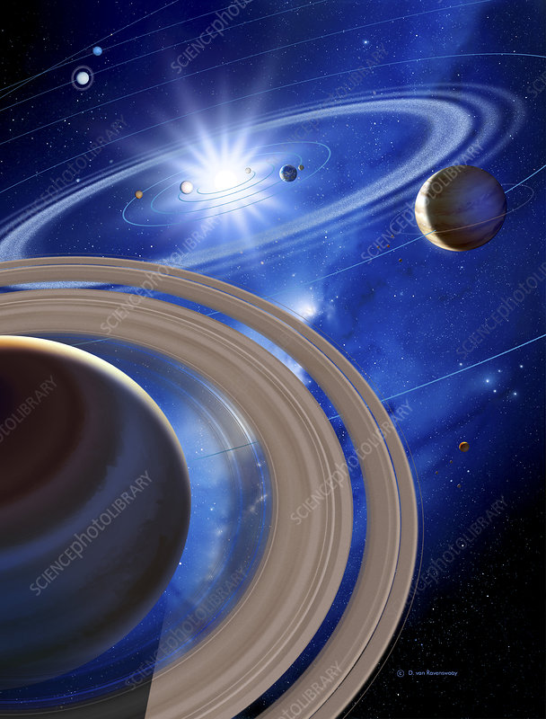 Saturn and solar system