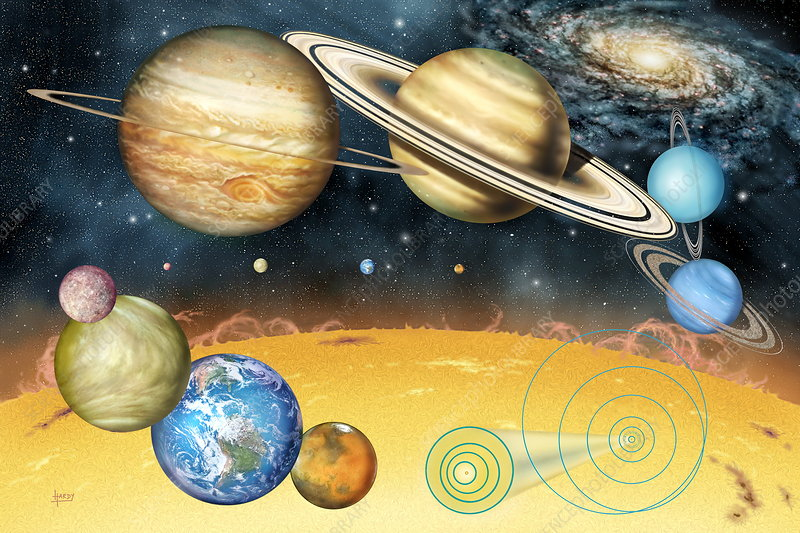 Solar System Diagram Stock Image R3000195 Science Photo Library