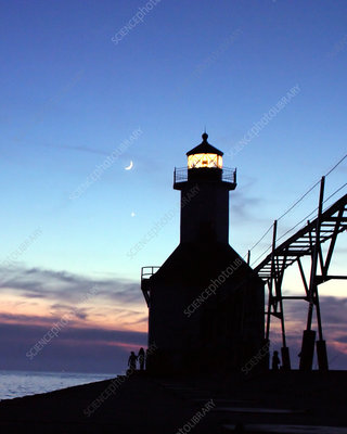 'Lighthouse, Moon, Venus'