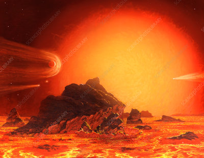 Future red giant Sun