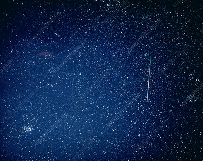 Optical image of a Perseid meteor track
