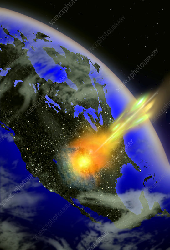 Illustration of a Meteor Impact