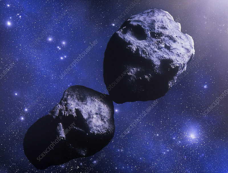 Illustration of the asteroid Hektor
