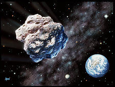 Asteroid on collision with Earth