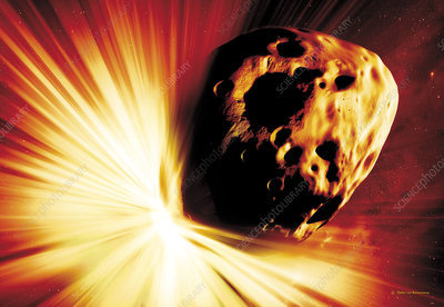 Asteroid deflection, stand-off explosion