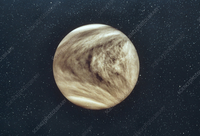 Pioneer-Venus photo of Venus showing cloud cover