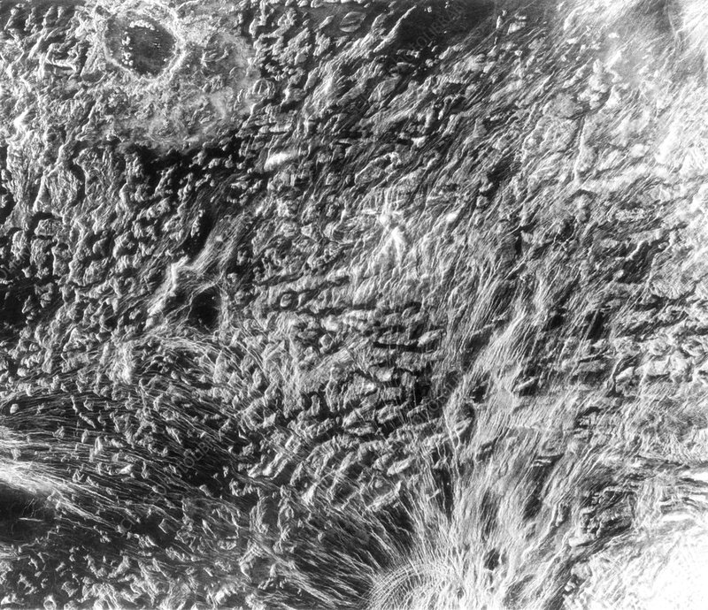 Surface features in Ovda Regio, Venus