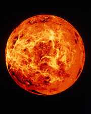 False-colour Magellan mosaic of Venus w.hemisphere