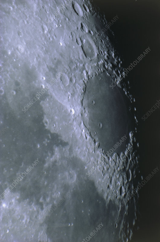 Mare and craters on the Moon