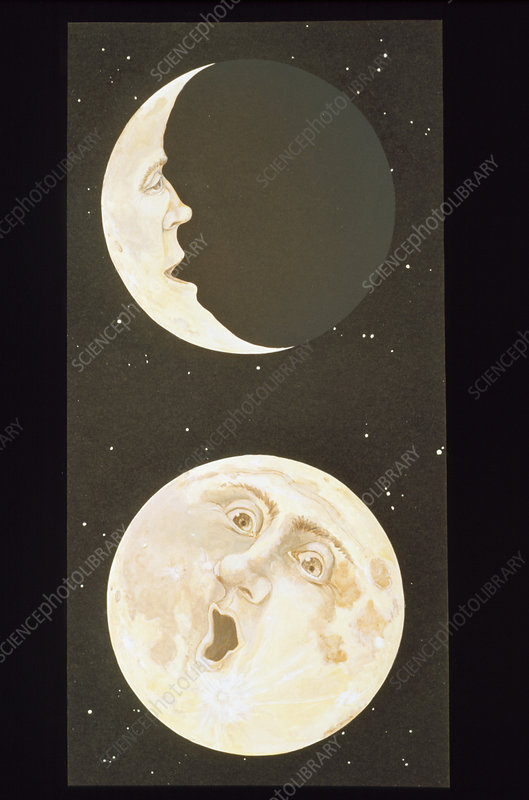 Illustration depicting the Man in the Moon