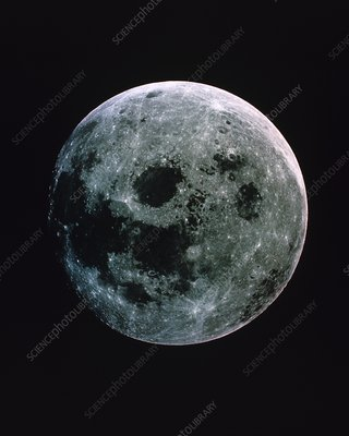 Apollo 11 photograph of the full moon