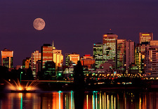 Moon over Vancouver
