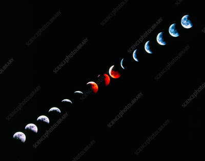 Total eclipse of the Moon in December 1992