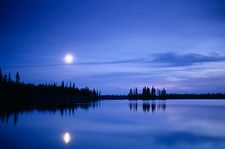 Moon over a lake