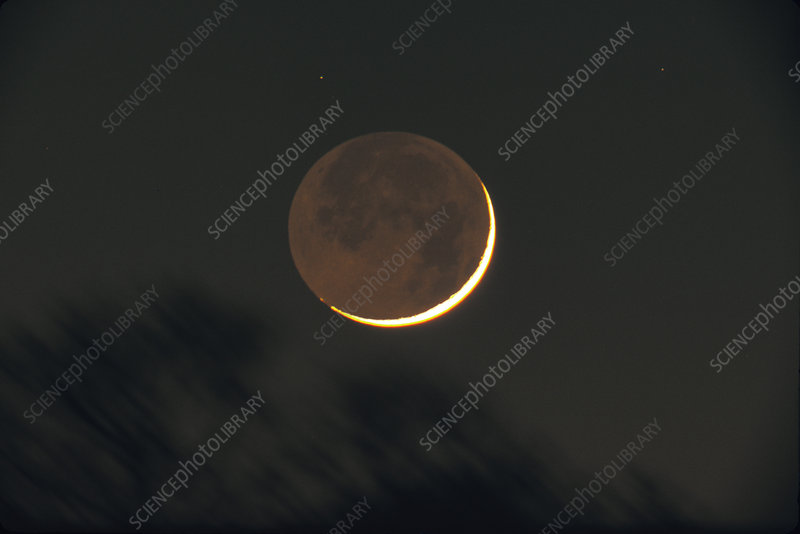 2 Day Old Moon , with earthshine