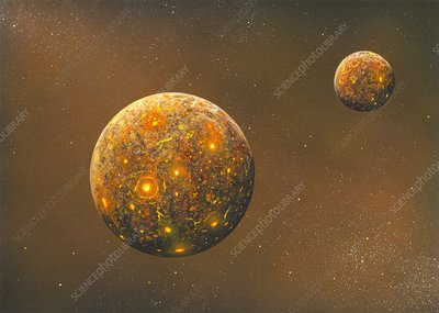Formation of the Moon, artwork