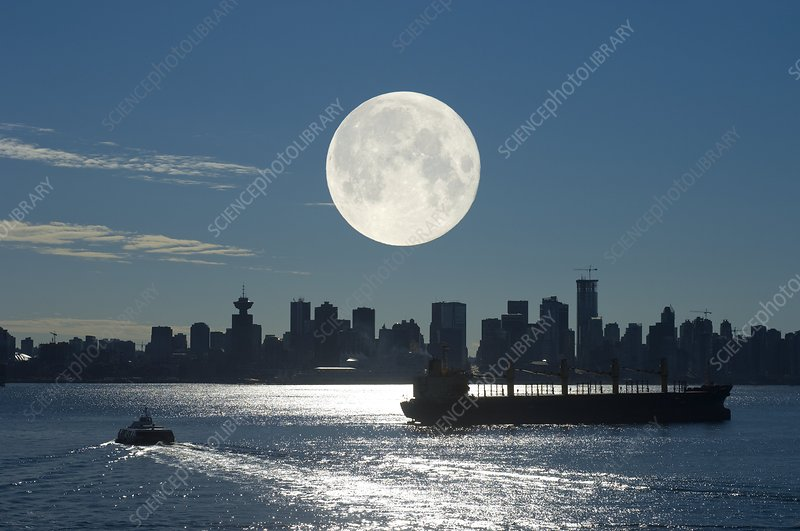 Full Moon over Vancouver