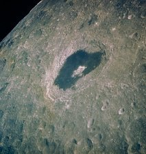 Crater Tsiolkovsky (lunar far side) from Apollo 13