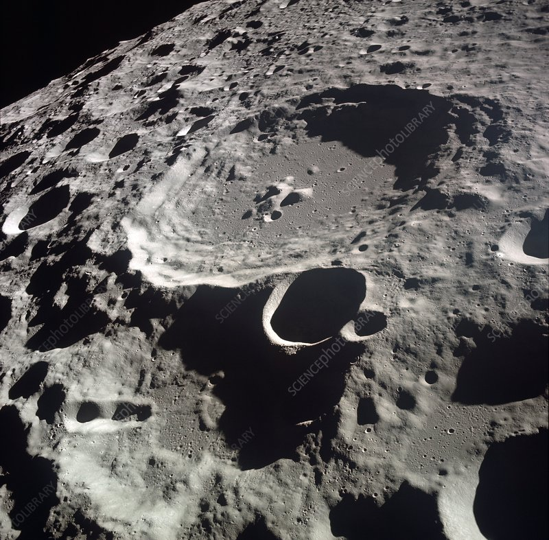 Apollo 11 image of craters on the Moon