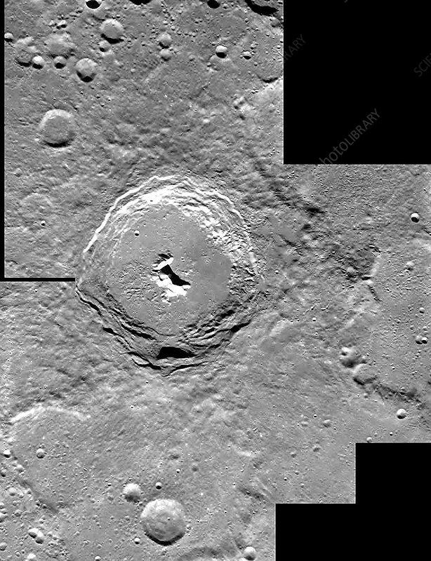 Lunar crater Pythagoras, SMART-1 image