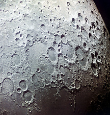 Moon's surface, Zond 7 image