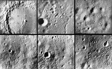 Ranger 9 images of the moon before impact