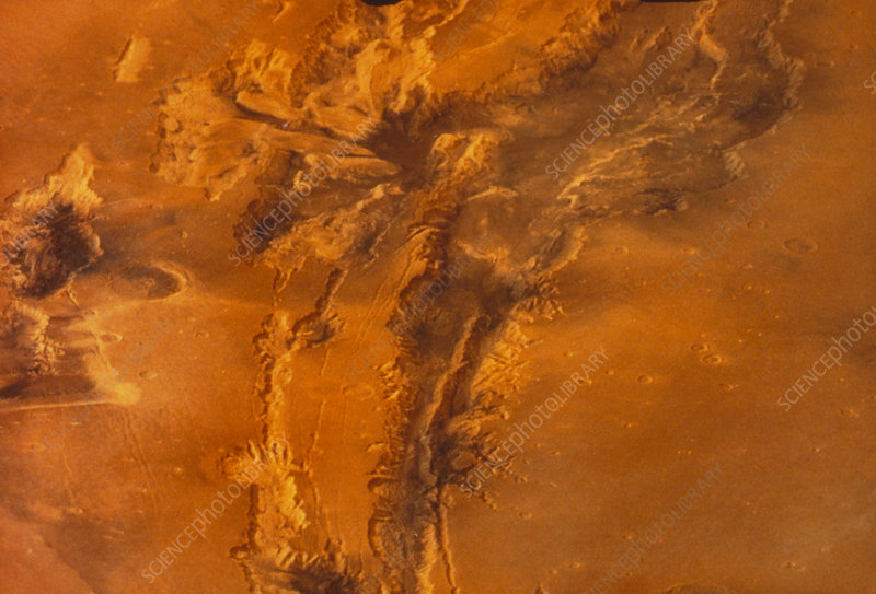 View of the Valles Marineris canyon system, Mars
