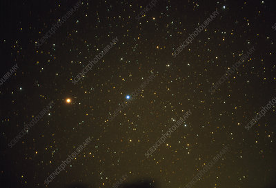 Optical image of Mars in the constellation Virgo