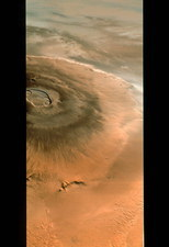 Mars Global Surveyor image of Olympus Mons volcano