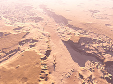 Eroded Martian landscape
