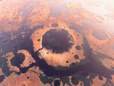 Water around Martian craters