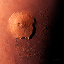 Olympus Mons, morning view