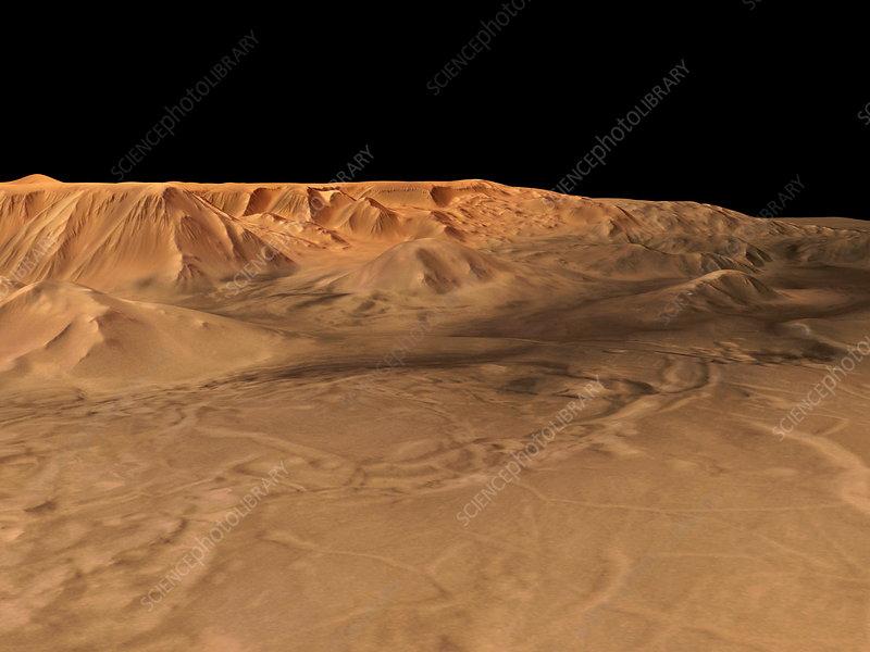 Martian canyons, Tithonium Chasma