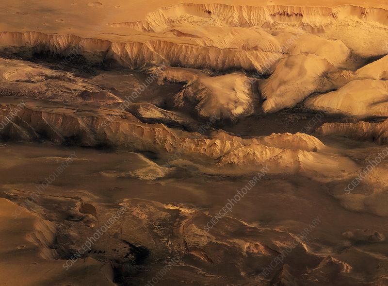 Martian canyons, Valles Marineris