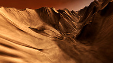 Martian canyon, 3D image