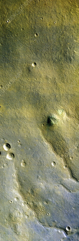 Martian surface, infrared MRO image