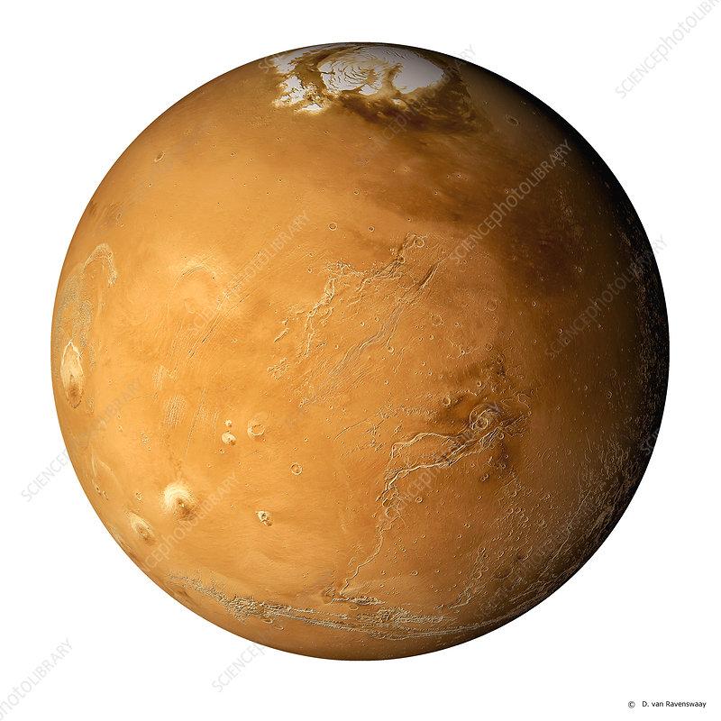 Mars, composite satellite image
