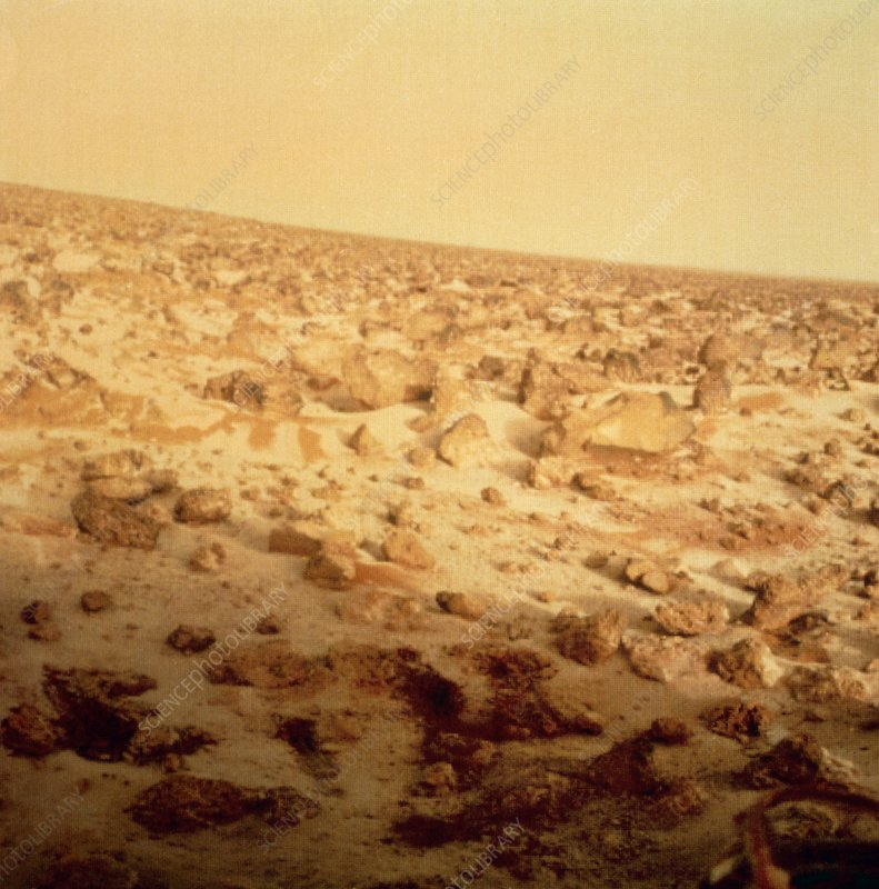 Viking 2 lander photo of rocky Mars terrain