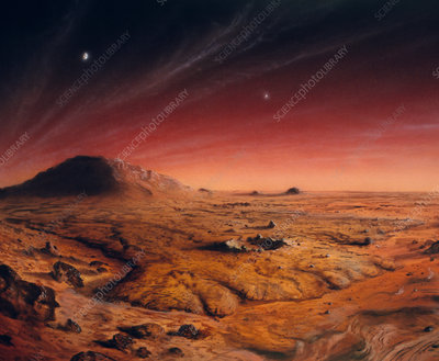 Artwork of Mars surface