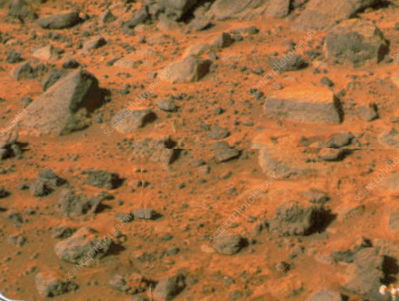 Mars Pathfinder image of the surface of Mars