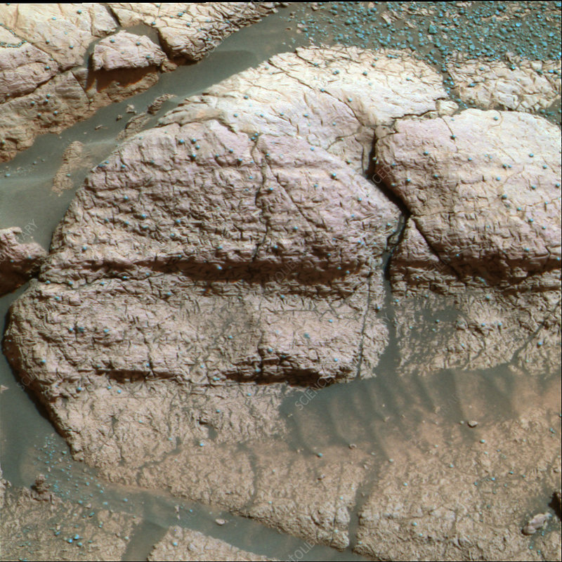 Martian rock surface