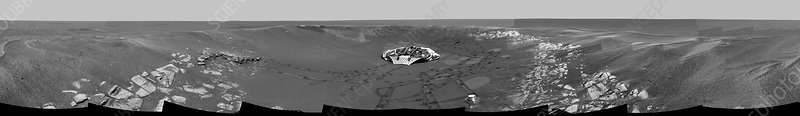 Eagle crater on Mars