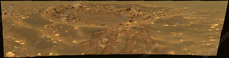 Fram crater on Mars