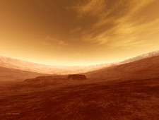 Martian crater, artwork