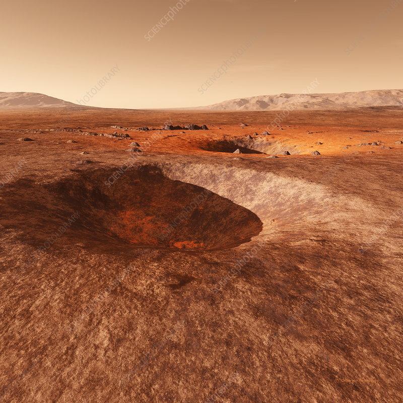 Martian crater, artwork