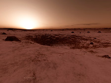 Mars sunrise, artwork
