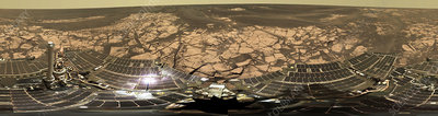Erebus Crater on Mars, Opportunity image