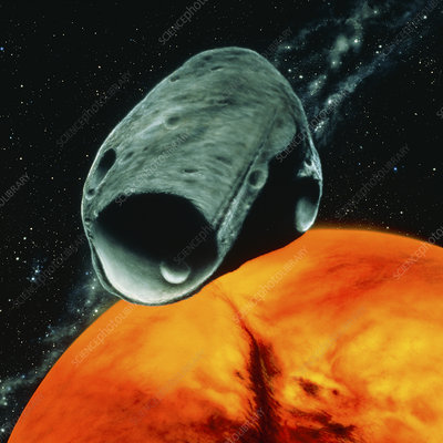 Artist's impression of the Martian moon Phobos